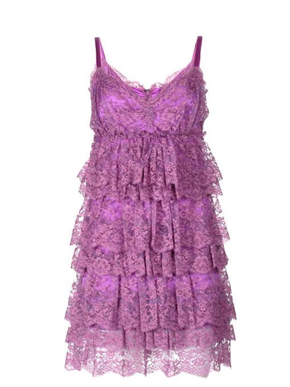 Women Dolce & Gabbana Lace Mini Dress -  Purple Size S IT 38 US 2