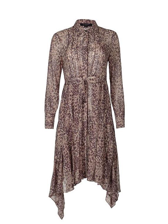 Women All Saints Leopard Print Midi Dress -  Leopard Size S US 2