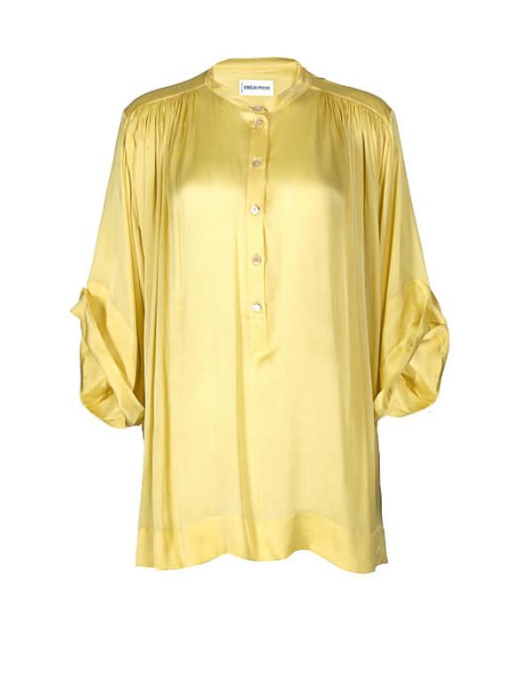 Women Emilio Pucci Silk Blouse -  Yellow Size S IT 40 US 4