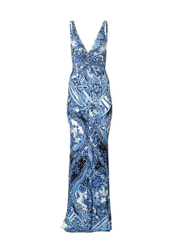 Women Roberto Cavalli Printed Long Dress -  Blue Size M IT 42 US 6