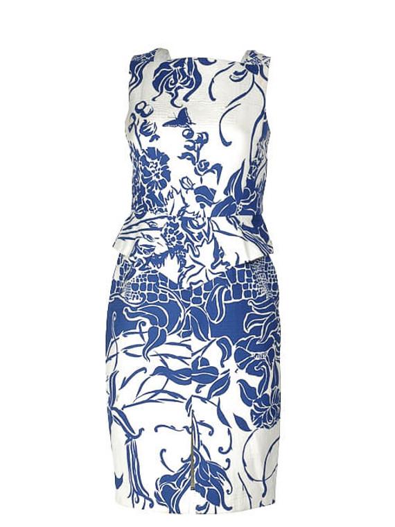 Women Emilio Pucci Printed Dress -  Blue Size M IT 42 US 6