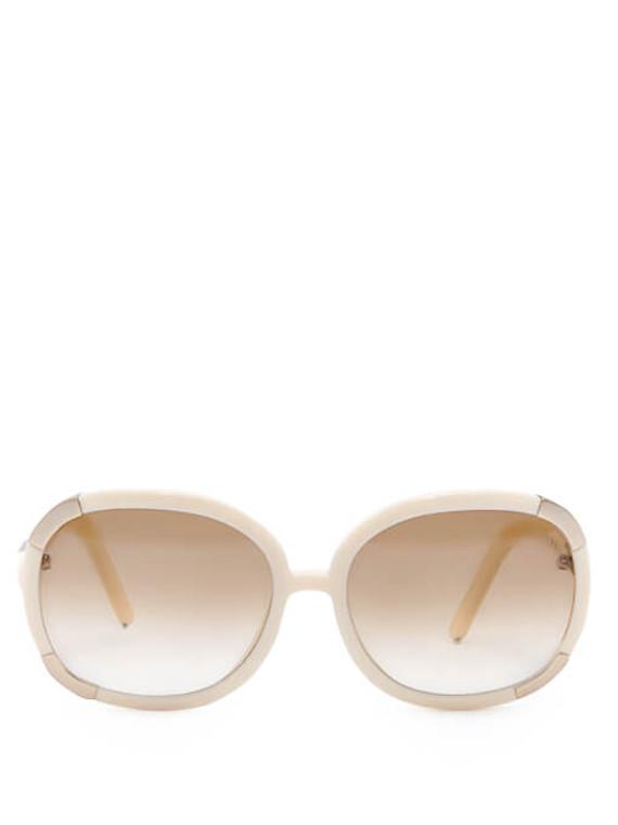 Women Chloé Oversize Gradient Sunglasses -  White