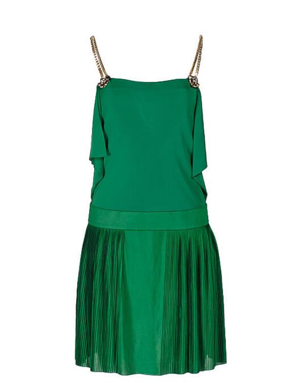 Women Gucci Pleated Dress -  Green Size XS IT 36 US 0