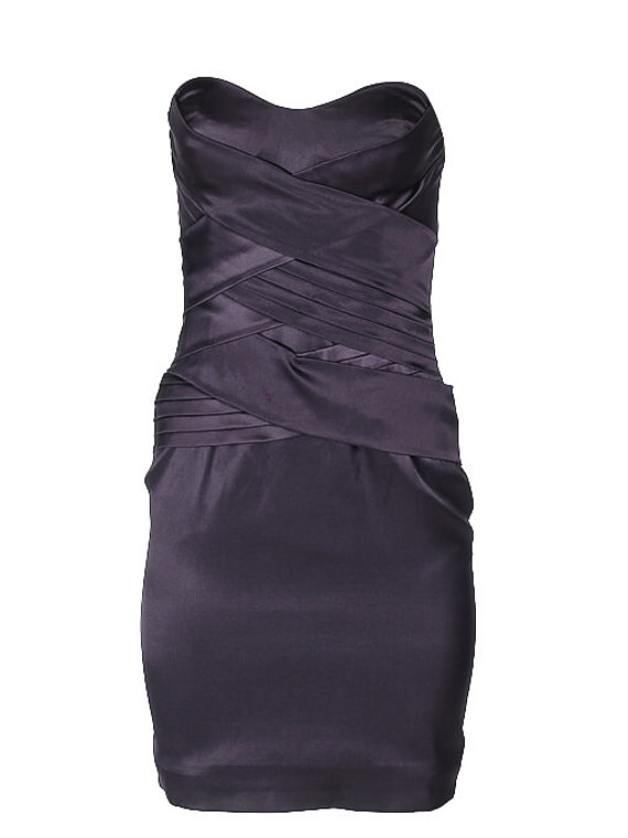 Women Roberto Cavalli Strapless Draped Dress -  Blue Size S IT 38 US 2