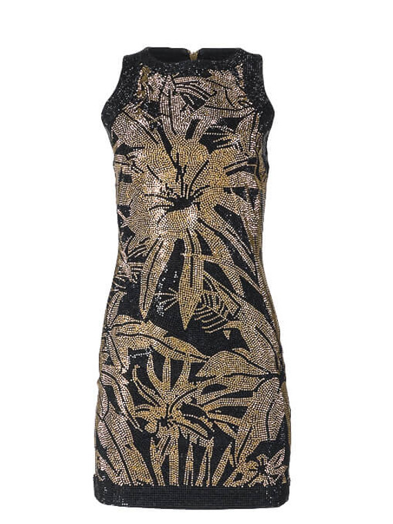 Women Balmain Embellished Mini Dress -  Black Size S FR 36 US 4