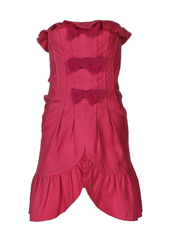 Women Giambattista Valli Bow Mini Dress -  Pink Size S IT 42 US 6