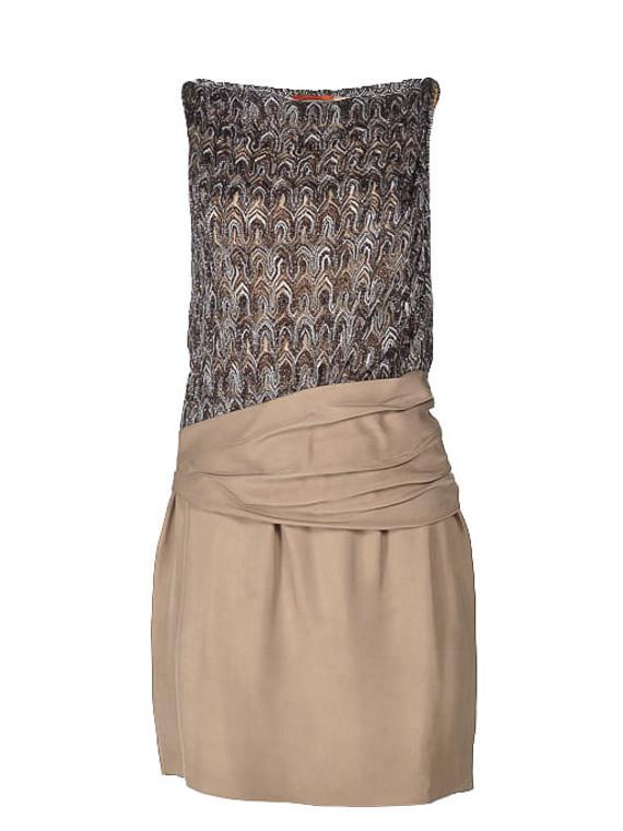 Women Missoni Patterned Dress -  Brown Size S IT 38 US 2