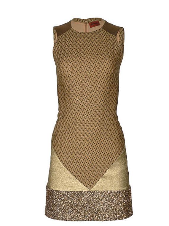 Women Missoni Glitter Knit Dress -  Gold Size S IT 38 US 2