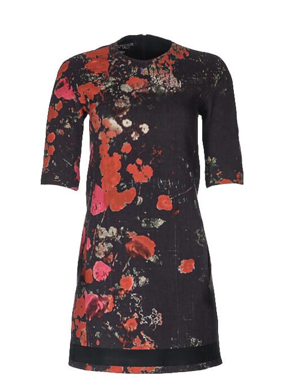 Women Giambattista Valli Rose Printed Dress -  Black/Pink Size XS IT 40 US 4