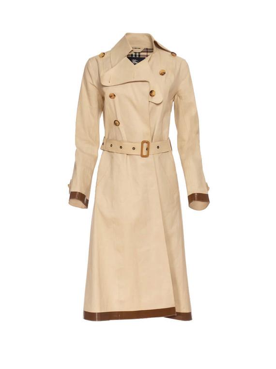 Women Burberry Trench Coat -  Beige Size M US 6