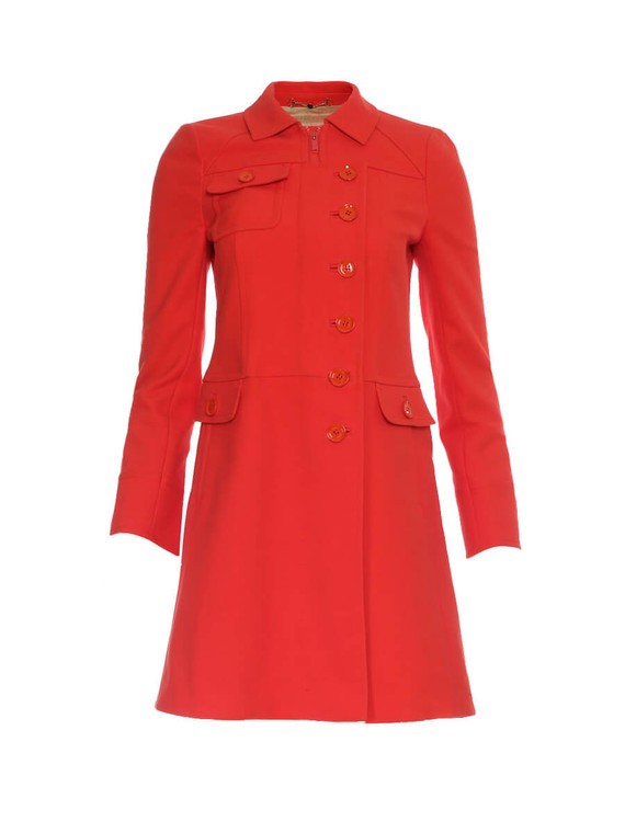 Women Gucci Tailored Coat -  Red Size S IT 40 US 4