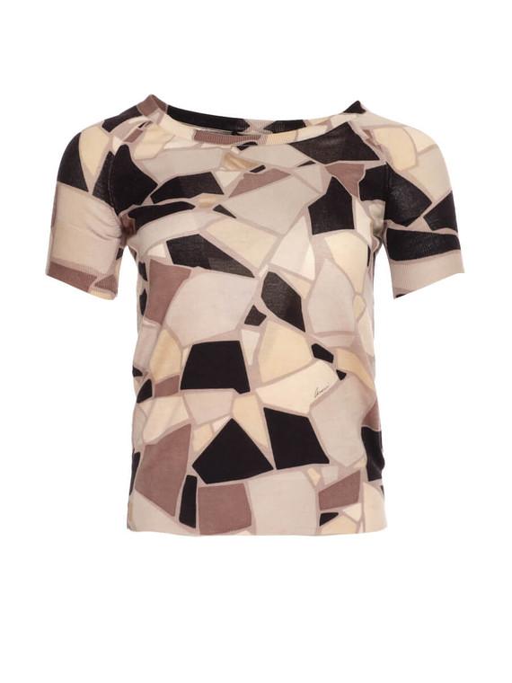 Women Gucci Geometric Monochrome Top -  Black/White Size S IT 40 US 4
