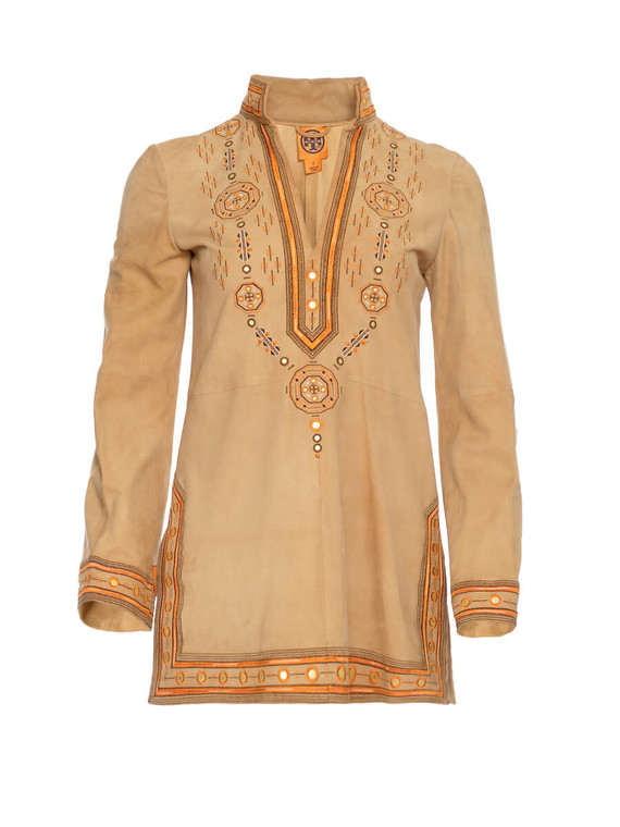 Women Tory Burch Embroidered Tunic -  Beige Size S US 2