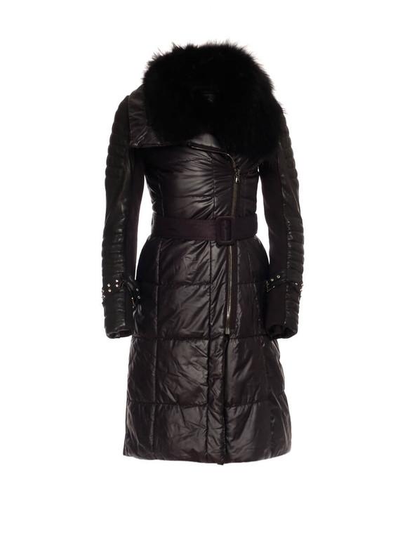 Women Foce Midi Puffer Jacket -  Black Size M FR 40 US 8