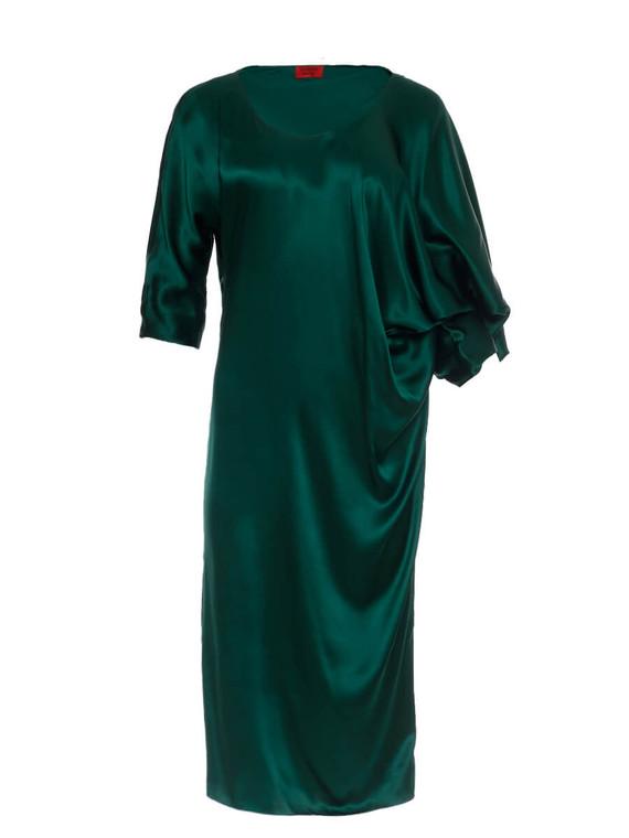 Women Lanvin Draped Dress -  Green Size L