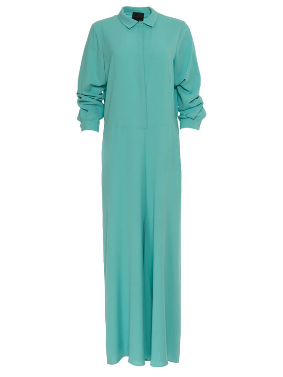 Women Hôtel Particulier Shirt Jumpsuit -  Turqoise Size XL US 14