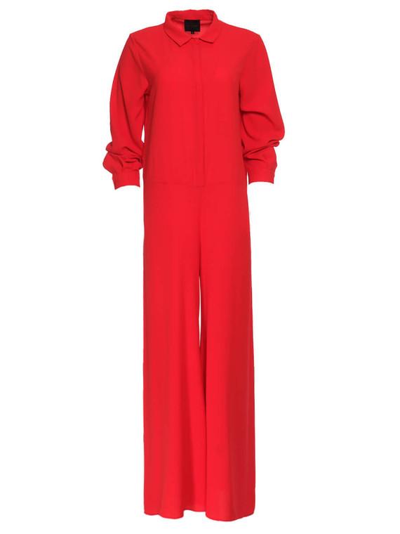 Women Hôtel Particulier Shirt Jump Suit -  Red Size XL US 14
