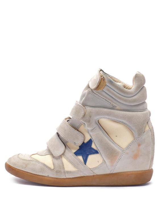Women Isabel Marant Bekett Wedged Sneaker -  Beige Size 40 US 10