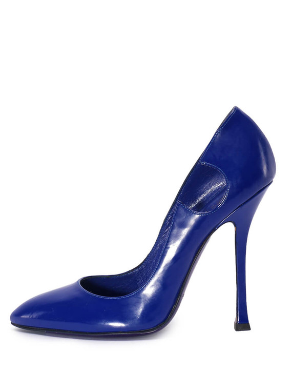 Women Sergio Rossi Pointed-Toe Pump Heels -  Blue Size 39 US 9