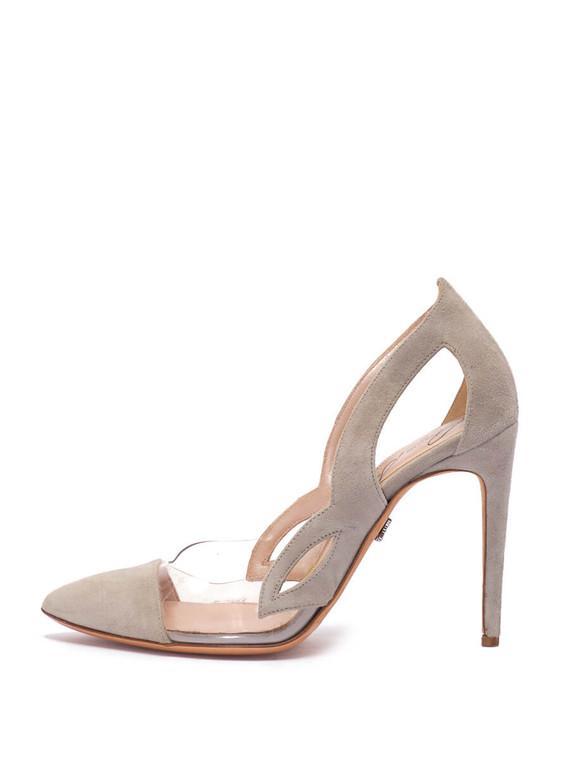 Women Aruna Seth Mezza Farfalla Pumps -  Grey Size 38 US 8
