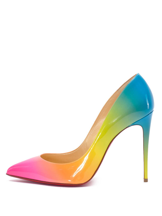 Women Christian Louboutin Gradient Rainbow Pigalle Follies 100 Pumps -  Multi Size 38.5 US 8.5
