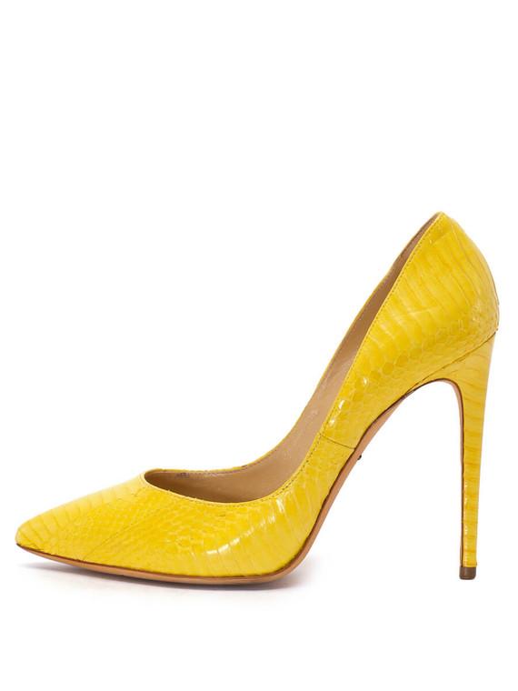 Women Dolce & Gabbana Pointed Toe Pump Heels -  Yellow Size 39 US 9