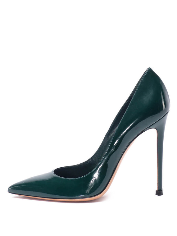 Women Gianvito Rossi Pointed Pump Heels - Size 38.5 US 8.5  Green