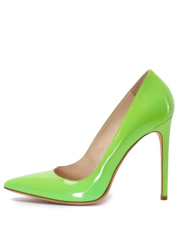 Women Gianmarco Lorenzi Pointed-Toe Pump Heel -  Green Size 38 US 8