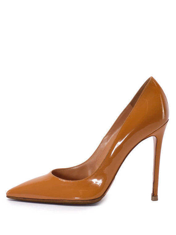 Women Gianvito Rossi Pointed Pump Heel -  Brown Size 38.5 US 8.5