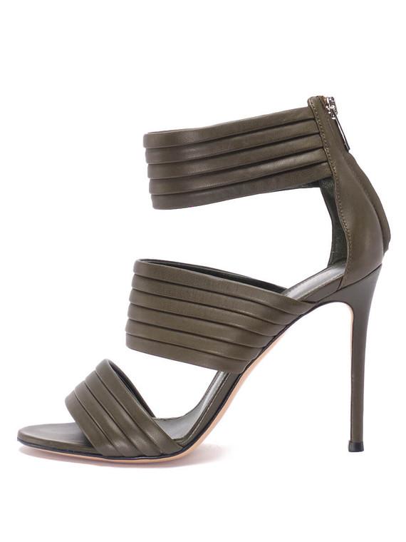 Women Gianvito Rossi Sandal Heels -  Green Size 38 US 8