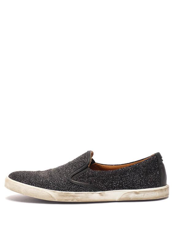 Women Jimmy Choo Slip-on Sneaker -  Black Size 38.5 US 8.5