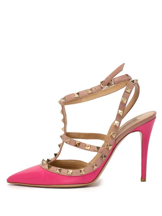 Women Valentino Rockstud Heels -  Pink Size 38.5 US 8.5