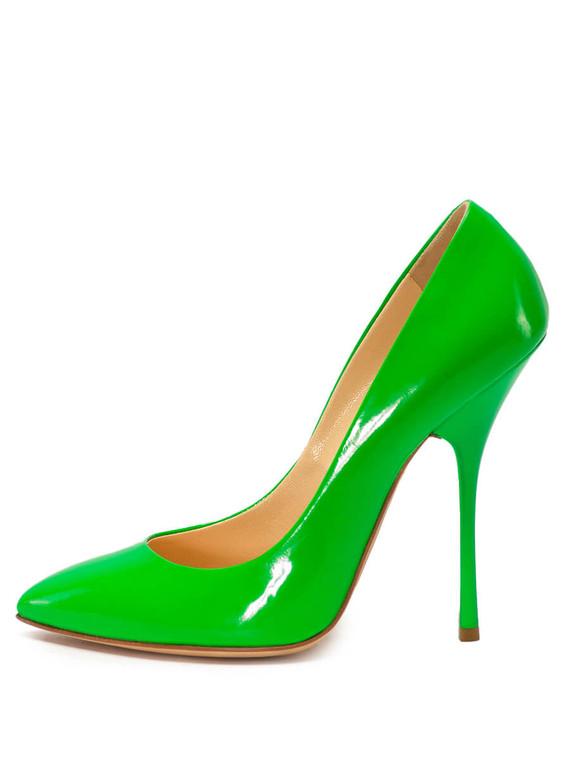 Women Giuseppe Zanotti Pointed Pumps -  Green Size 38.5 US 8.5