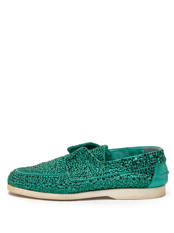 Women Le Silla Prince Moccasin -  Green Size 38 US 8