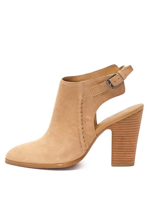Women Franco Sarto Slingback Ankle Booties -  Beige Size 39 US 9