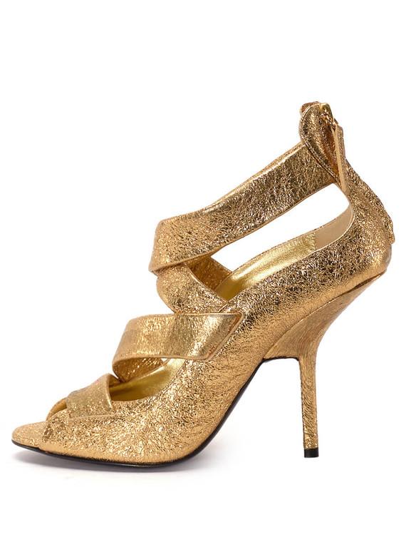 Women Giuseppe Zanotti Strap Sandal Heels -  Gold Size 39 US 9