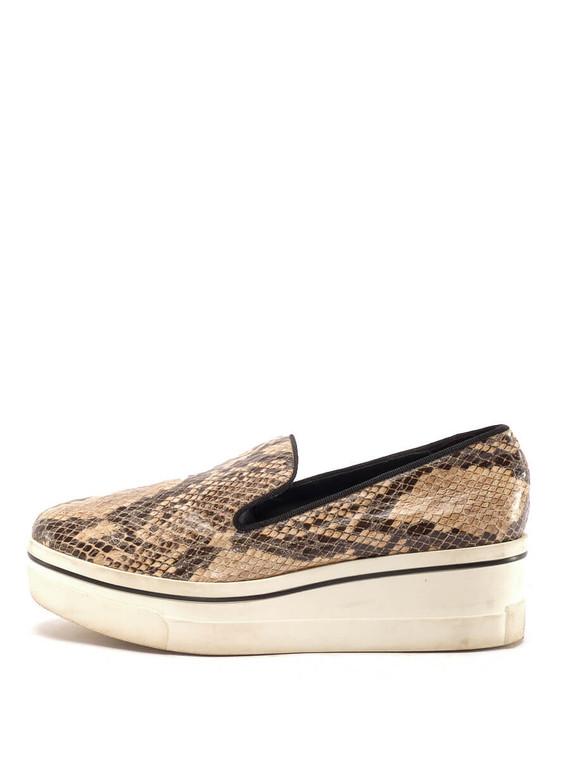 Women Stella McCartney Binx Platform Slip-On Sneakers -  Ecru Size 38 US 8