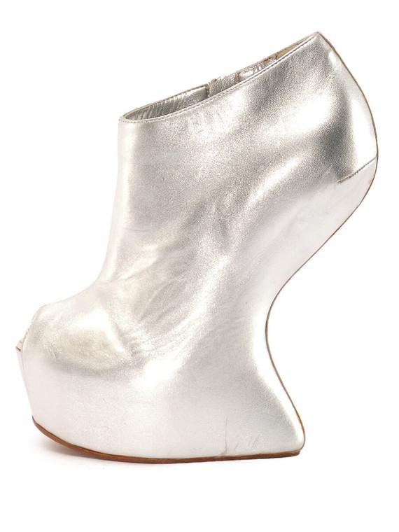 Women Giuseppe Zanotti Peep-Toe No Heels -  Silver Size 38 US 8