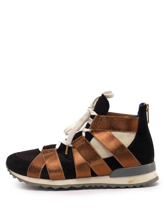 Women Vionnet Sneakers -  Black/Bronze Size 38 US 8