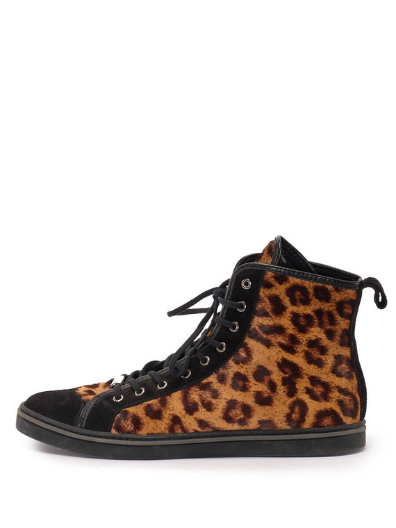 Women Botticelli High Top Sneakers -  Brown/Black Size 38 US 8