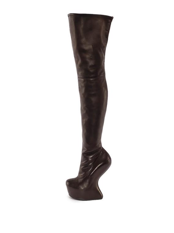 Women Giuseppe Zanotti Over-The-Knee No Heel Boot Heels -  Black Size 38.5 US 8.5