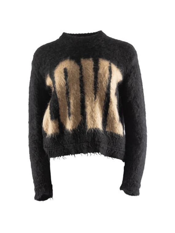 Women Givenchy LOVE Sweater - Black Size XS US 4