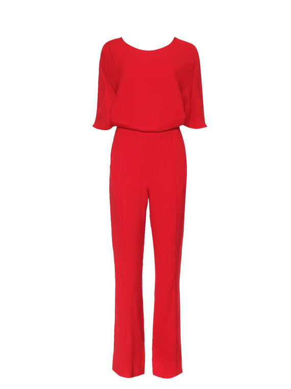 Women Valentino Cross Back Jumpsuit - Red Size S IT 40 US 4
