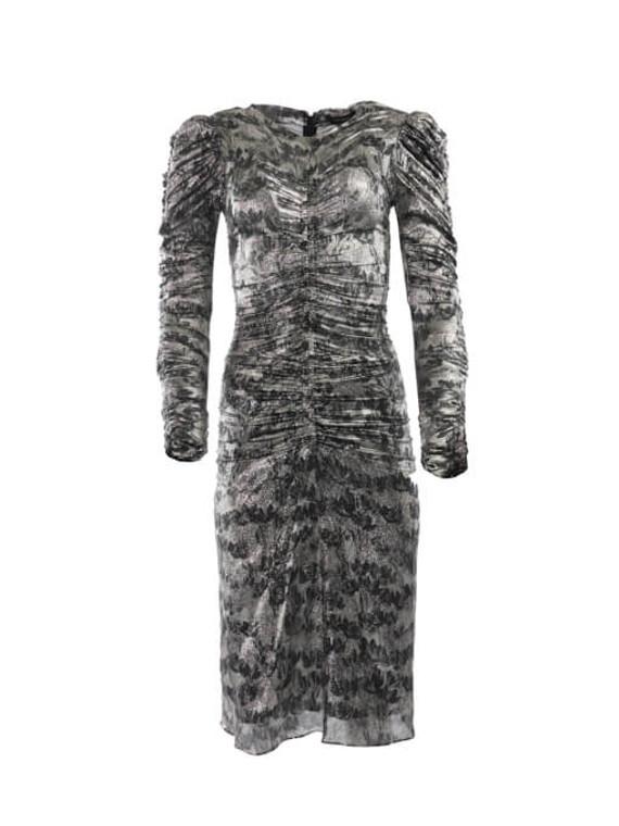Women Isabel Marant Damia Midi Dress - Grey Size XS UK 6 US 0 FR 34