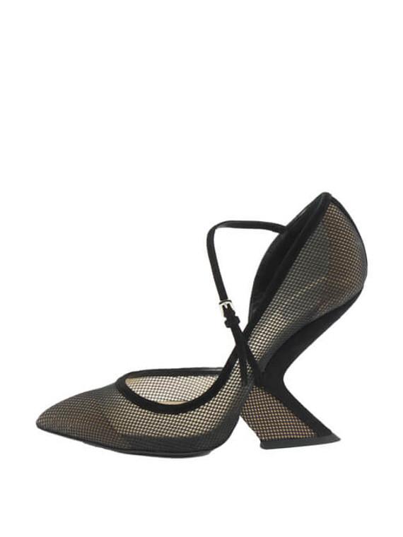 Women Christian Dior Mesh Pumps - Black UK 5 US 8 EU 38