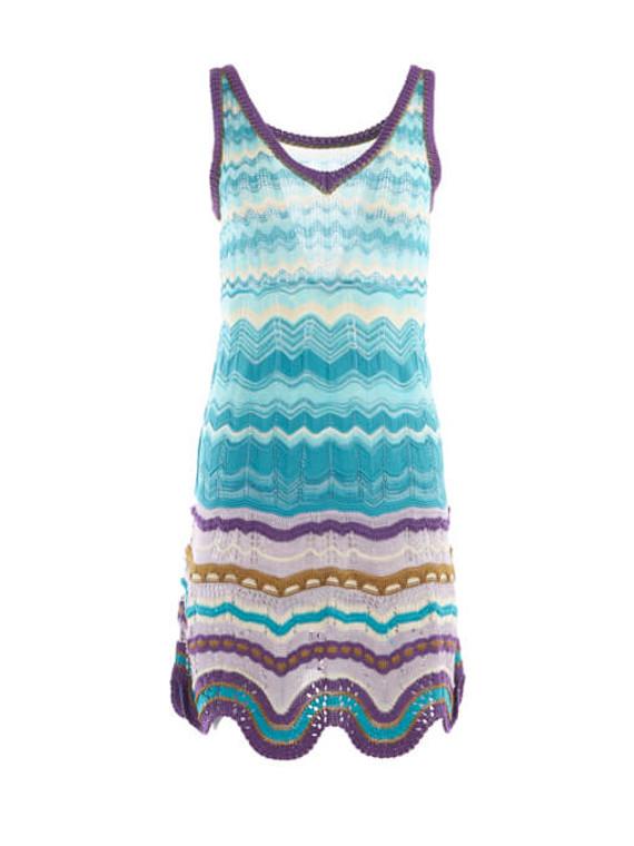 Women Missoni Printed Sleeveless Dress - Multicolour Size XS UK 6 US 0 IT 38