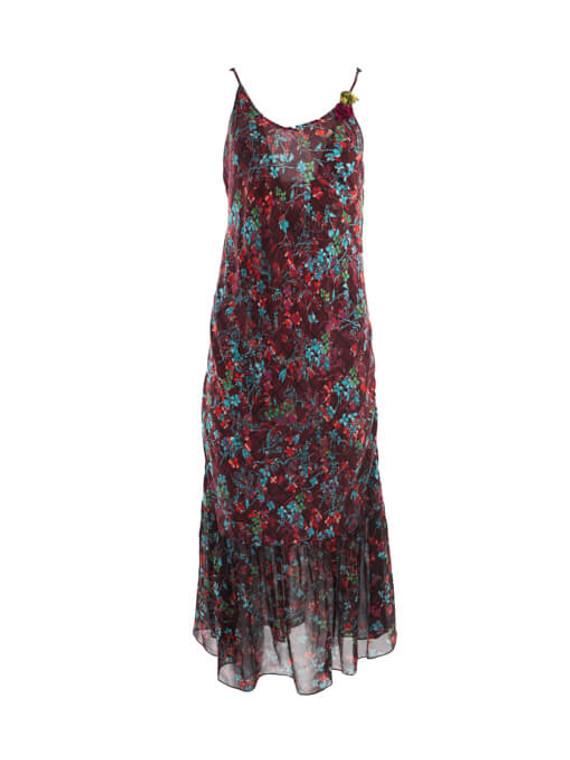 Women Preen Line Floral Printed Slip Maxi Dress - Multicolour Size S UK 6 US 4