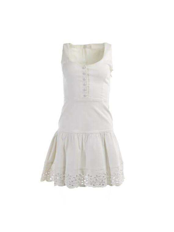 Women Prada Sleeveless Mini Dress - White Size XS UK 6 US 0 IT 38