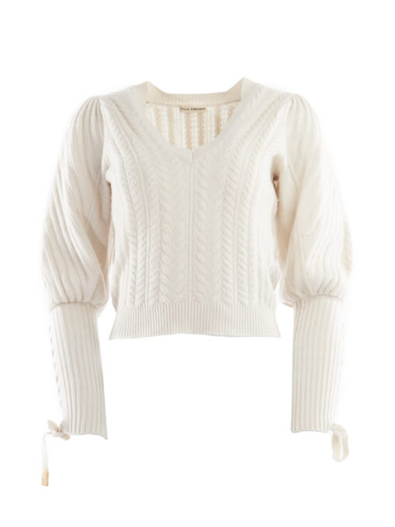 Women Ulla Johnson Cable Knit Cropped Sweater - White Size XS UK 6 US 0
