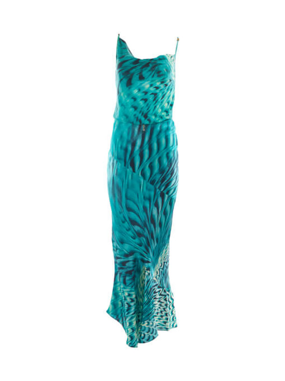 Women Roberto Cavalli Printed Skirt & Top Set - Blue Size L/S UK 14/8 US 10/4